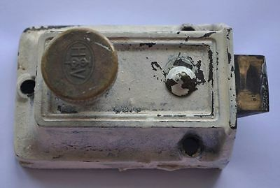 1920s Estonia HTV Solid Metal Door Lock FULLY WORKING