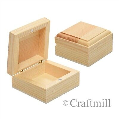 Bargain 30 Small Wooden Jewellery Trinket Box  6x6x3cm
