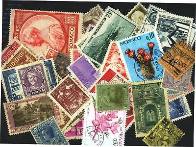 Monaco Stamp Collection --- 410 Different -- 1891-1985