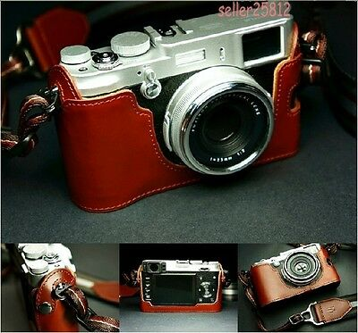 New top Genuine real COW leather case bag cover for FUJI FUJIFILM X100 Camera