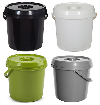 14L Nappy Bucket With Lid Plastic 3Gallons Bin Pail Storage Container Handle New
