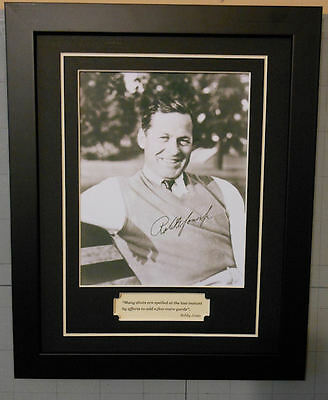 Bobby Jones Signed Photo Reprint Golf Quote  Framed