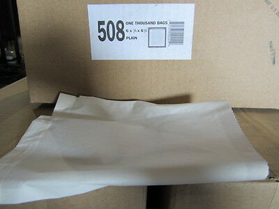 6 X 3/4 X 6 1/6 Plain White Bags - 1000 Bags - Must Sell! Send Any Any Offer!