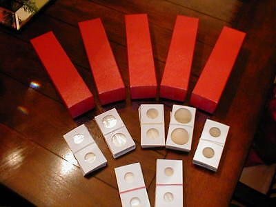 500 2x2 U Pick Sizes Cardboard Coin Holder Flip 5 2x2x9 Red Storage Boxes Box