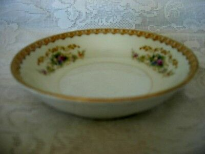 Vintage JYOTO Tan/Gold Floral Fruit/Berry Bowl- Occupied Japan - MORE AVAILABLE