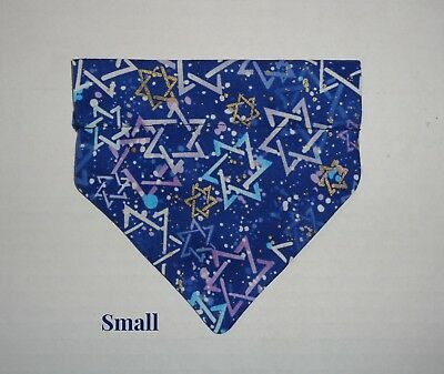 Hanukkah Shalom Menorah Star of David Over Collar Slide On Pet Dog Cat Bandana