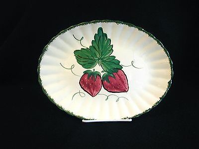 Vintage BLUE RIDGE Southern Potteries WILD STRAWBERRY Oval Platter 11-5/8""
