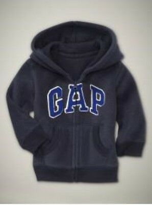 NWT Baby GAP Soft Fleece Arch Logo Hoodie Zip-Up Jacket Boys 3-6 12-18 18-24 mos