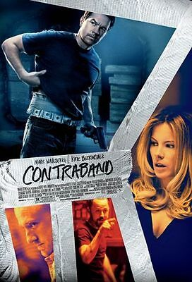 CONTRABAND -2012 orig D/S 27x40 REG movie poster- MARK WAHLBERG, KATE BECKINSALE