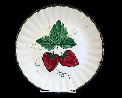 Vintage BLUE RIDGE Southern Potteries WILD STRAWBERRY Dinner Plate #3 10-1/4""