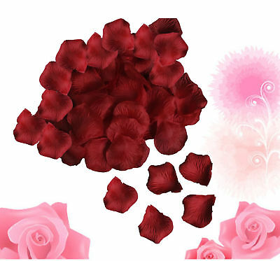 1000 Silk Rose Petals Wedding Anniversary Party Decorations Red Flower Favors