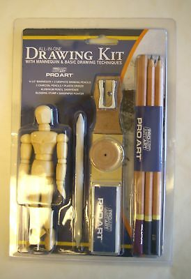 11 Pc Drawing & Sketching Pencil Set w Mannequin Pro-3049