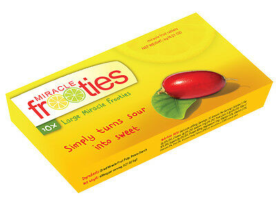 Miracle Fruit Tabs DOUBLE SIZE Miracle Frooties - FUN!