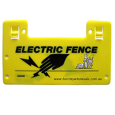 4x Electric Fence WARNING SIGNS RRP$19.00 Horsley Wholesale Farm/ Fencing Safety