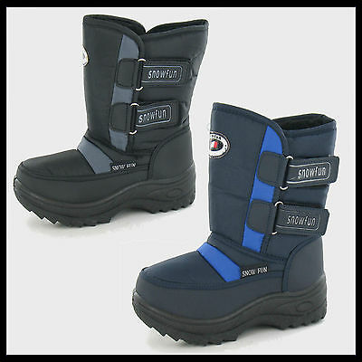 JOBLOT WHOLESALE Boys SnowFun Velcro Snow Boots > Sizes 31-35 x15pairs 8.541108