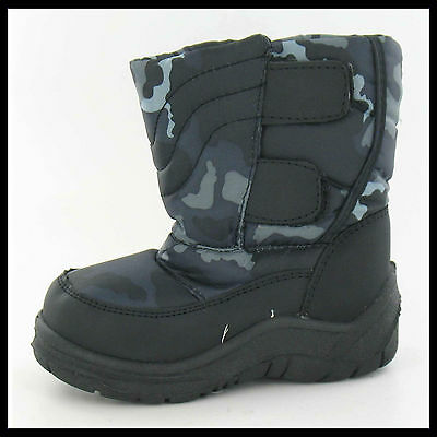 JOBLOT WHOLESALE Boys SnowFun Velcro Snow Boots > Sizes 23-30 x15pairs 8.998876