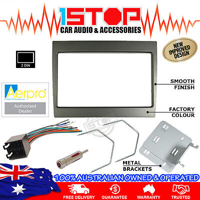 Vy-Vz Commodore Grey Facia Fascia Kit + Wiring Harness + Adaptor + Removal Tools