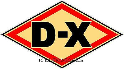 "6"" Cream Dx D-X Gasoline Decal Gas And Oil Gas Pump Sign, Wall Art Sticker"