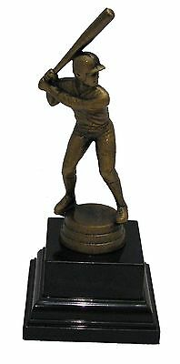 Male Baseball Batter Trophy Free Engraved