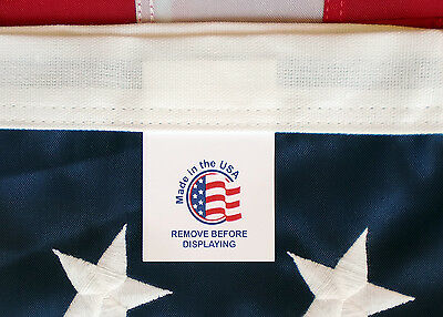Embroidered Nylon American Flags 100% MADE IN U.S.A. In Any Size 2x3 3x5 4x6 5x8