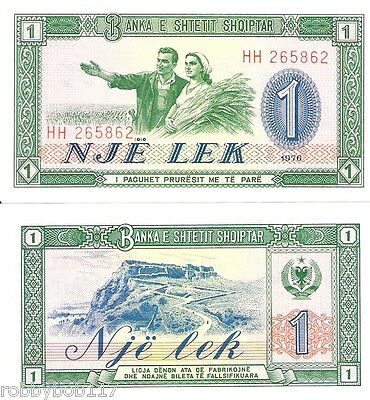 ALBANIA 1 Leke Banknote World Paper Money UNC Currency Pick p-40 Bill Note