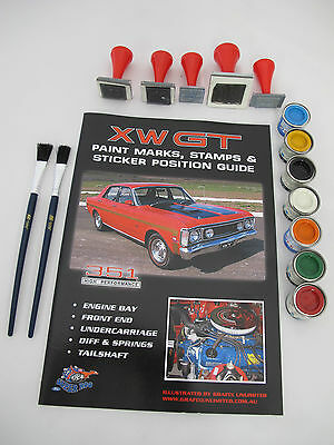 Ford Falcon Xw Gt Ho Stamp And Paint Marking Kit All Included Do It Your Self