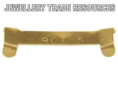 NEW 9ct YELLOW GOLD RING CLIP TO REDUCE 5mm WIDE RING'S FINGER SIZE