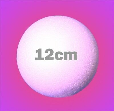12cm x 10pcs Polystyrene Balls SOLID Craft Sweet Tree Christmas Party Decoration