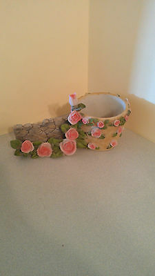 Very Cute Floral Flower Pot and Card Holder