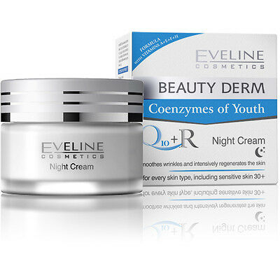 BEAUTY DERM Anti-Aging  Anti Wrinkle NIGHT CREAM Skin Care Facial Full Size NEW