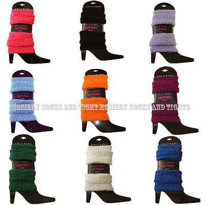 1 PAIR Women Solids,Soft & Cozy,Fuzzy Leg Warmers -Choose from 13 colors