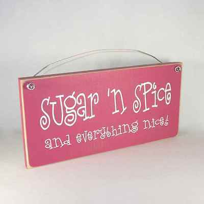 Sugar 'n Spice & Everything Nice! Funny Sign rustic farmhouse assorted COLORS!