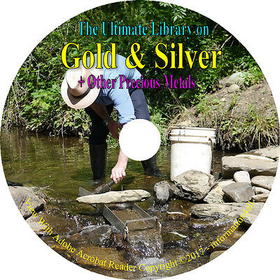 130 Books on DVD, Ultimate Library on Gold & Silver, Precious Metals, Assaying