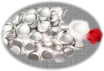 100 Buttons 23mm Self Cover Flat Back Flatback Cabochon  DIY win 1 free tool set
