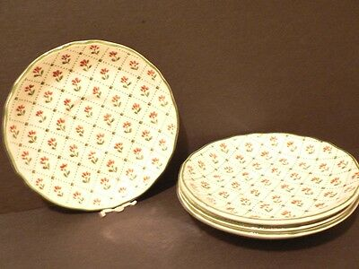 Royal Staffordshire Country French (4) Saucers Heirloom Ironstone J&G Meakin Eng