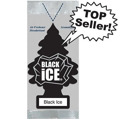 12 x BLACK ICE LITTLE TREES AIR FRESHENERS Freshener Scent Car Taxi Truck Uber