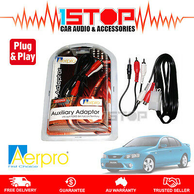 FORD FALCON BA-BF AUX AUXILIARY ADAPTOR iPHONE iPOD iPAD MP3 AFD2AUX PLUG&PLAY!