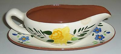 Stangl Pottery Country Garden Gravy Bowl W/Underplate!