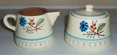Stangl Pottery Blue Daisy Creamer & Sugar Bowl W/lid!