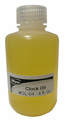 New Nye Clock Oil - 4 ounce bottle - Non-Corrosive - U.S. Made (OL-04)