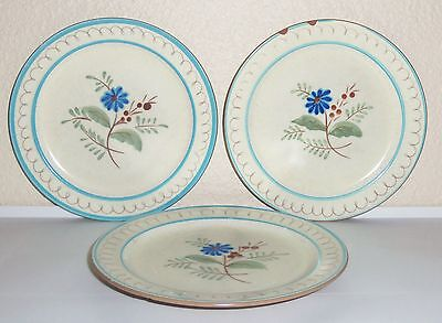 Stangl Pottery Blue Daisy Set/3 Salad Plates!