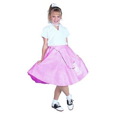 88e0cc771167 1950S 50'S Girl Child Costume Poodle Skirt Scarf Sock Hop Diva Costumes  91138