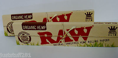 Raw Organic Hemp King Size Rolling Papers (2 Packs) **Free Shipping**