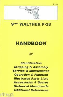 Walther P38 Assembly, Disassembly Manual 9mm