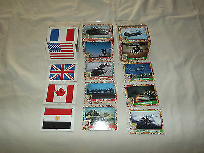 Vintage 1991 Us Army 3 Plastic Boxes  Desert Storm Military Trading Cards