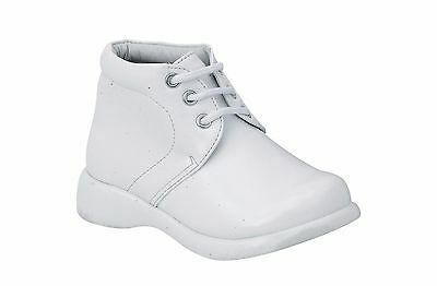 Vegace Baby Toddler Infant Boy Children Walking Shoe Casual Soft White Leather