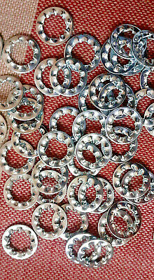 6mm STAR WASHER INTERNAL SHAKEPROOF BRIGHT ZINC PLATED M6 WASHERS PACK x 100