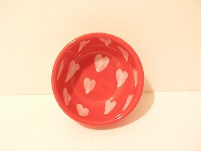 Designer Contemporary Red Dish with Hearts made in Italy Signed.    (S2