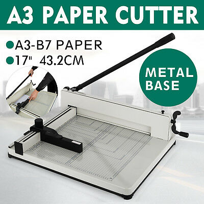"17"" A3 Paper Cutters Guillotines Trimmers Office Heavy Duty Page Machine NEW ind"
