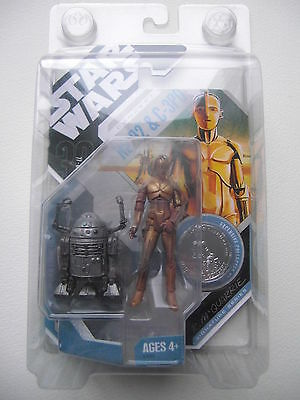 STAR WARS FIGURINE R2-D2 & C-3PO CONCEPT R.MC QUARRIE 30 th ANNIVERSARY RARE
